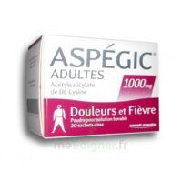 ASPEGIC ADULTES 1000 mg, poudre pour solution buvable en sachet-dose 20 à CUISERY