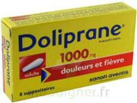 DOLIPRANE 1000 mg Suppositoires adulte 2Plq/4 (8) à CUISERY
