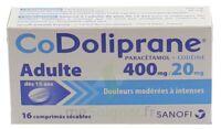 Codoliprane Adultes 400 Mg/20 Mg, Comprimé Sécable à CUISERY