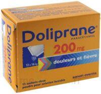 DOLIPRANE 200 mg Poudre pour solution buvable en sachet-dose B/12 à CUISERY