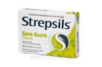 STREPSILS CITRON SANS SUCRE, pastille édulcorée à l'isomalt, au maltitol et à la saccharine sodique à CUISERY