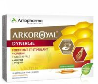 Arkoroyal Dynergie Ginseng Gelée Royale Propolis Solution Buvable 20 Ampoules/10ml à CUISERY