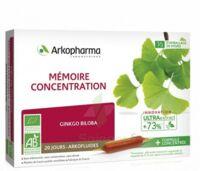 Arkofluide Bio Ultraextract Solution buvable mémoire concentration 20 Ampoules/10ml à CUISERY