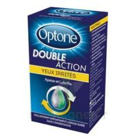 Optone Double Action Solution Oculaire Yeux Irrités Fl/10ml à CUISERY