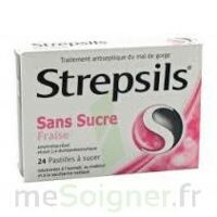 Strepsils Fraise Sans Sucre, Pastille édulcorée à L'isomalt, Au Maltitol Et à La Saccharine Sodique à CUISERY