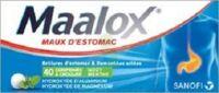 Maalox Hydroxyde D'aluminium/hydroxyde De Magnesium 400 Mg/400 Mg Cpr à Croquer Maux D'estomac Plq/40 à CUISERY