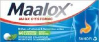 Maalox Hydroxyde D'aluminium/hydroxyde De Magnesium 400 Mg/400 Mg Cpr à Croquer Maux D'estomac Plq/60 à CUISERY