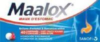 MAALOX MAUX D'ESTOMAC HYDROXYDE D'ALUMINIUM/HYDROXYDE DE MAGNESIUM 400 mg/400 mg SANS SUCRE FRUITS ROUGES, comprimé à croquer édulcoré à la saccharine sodique, au sorbitol et au maltitol à CUISERY
