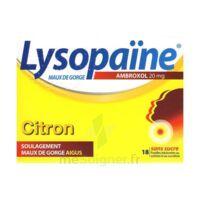 LYSOPAÏNE MAUX DE GORGE AMBROXOL CITRON 20 mg SANS SUCRE, pastille édulcorée au sorbitol et au sucralose à CUISERY