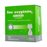 EAU OXYGENEE 10 VOLUMES GILBERT, solution pour application cutanée en récipient unidose à CUISERY