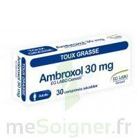 Ambroxol Eg Labo Conseil 30 Mg, Comprimé Sécable à CUISERY