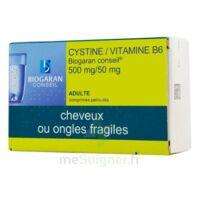 Cystine/vitamine B6 Biogaran Conseil 500 Mg/50 Mg Cpr Pell Plq/120 à CUISERY