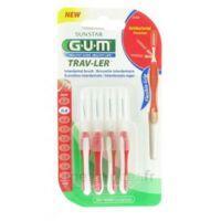 Gum Trav-ler 4 Brossettes Rouge Interdentaires 0.8mm à CUISERY