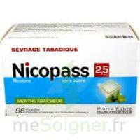 Nicopass 2,5 mg Pastille menthe fraîcheur sans sucre Plq/96 à CUISERY