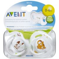 AVENT Sucette silicone 0-6mois lapin B/2 à CUISERY