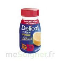 DELICAL BOISSON HP HC CONCENTREE Nutriment vanille 4Bouteilles/200ml à CUISERY