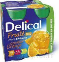 Delical Boisson Fruitee Nutriment édulcoré Orange 4bouteilles/200ml à CUISERY