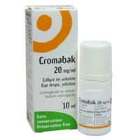 CROMABAK 20 mg/ml, collyre en solution à CUISERY