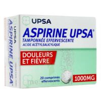 ASPIRINE UPSA TAMPONNEE EFFERVESCENTE 1000 mg, comprimé effervescent à CUISERY