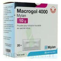 MACROGOL 4000 MYLAN 10 g, poudre pour solution buvable en sachet-dose à CUISERY