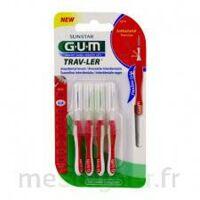 GUM TRAV - LER, 0,8 mm, manche rouge , blister 4 à CUISERY