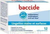 Baccide Lingette désinfectante mains & surface 12 Pochettes à CUISERY