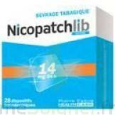 NICOPATCHLIB 14 mg/24 h Dispositifs transdermiques B/28 à CUISERY