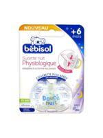 Bébisol Slim Sucette physiologique silicone nuit +6mois T2 à CUISERY