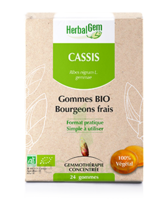 Herbalgem Gomme cassis bio B/24 à CUISERY