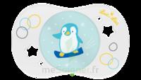 Luc et Léa Sucette symétrique +18mois Pingouin/biscuit à CUISERY