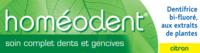 Boiron Homéodent Soin Complet Dents et Gencives Pâte Dentifrice Citron 2T/75ml à CUISERY