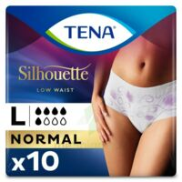 Tena Lady Silhouette Slip Absorbant Blanc Normal Large Paquet/10 à CUISERY
