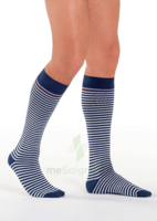 Sigvaris Styles Motifs Mariniere Chaussettes  Homme Classe 2 Marine Blanc Small Normal à CUISERY