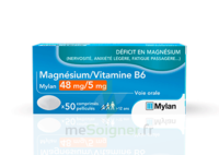 Magnesium/vitamine B6 Mylan 48 Mg/5 Mg, Comprimé Pelliculé à CUISERY